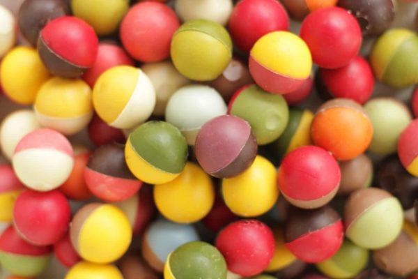 Doosje Chocoladebikkels assorti